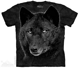 Black Wolf - Adult Tshirt - Wolves Collection