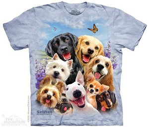 Dogs Selfie - Adult Tshirt - Dog / Puppy Collection
