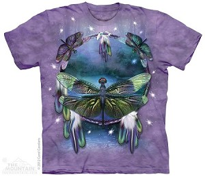 Dragonfly Dreamcatcher - Adult Tshirt - Native American