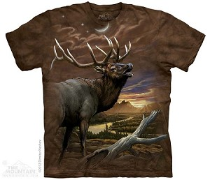 Elk At Dusk - North American Animal Collection - Adult Tshirt