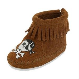 Minnetonka Moccasins 1182S - Free Range Mama - Sail Into The Mystic - Brown Suede