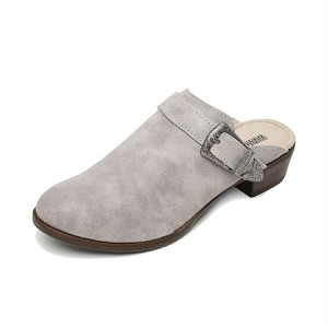 Minnetonka Moccasins 1541 - Women's Billie Mule - Marbled Grey Leather