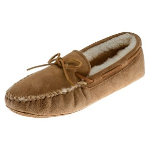 Minnetonka Moccasins 3311 - Women's Sheepskin Softsole Moccasin - Golden Tan