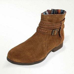 Minnetonka Moccasins 563 - Women's Dixon Boot - Dusty Brown Suede