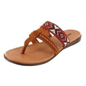minnetonka moccasins 71352 brown barbados sandal