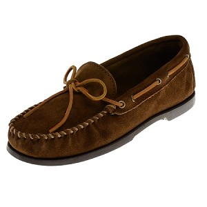 0747 Minnetonka Moccasins Men's Dusty Brown Suede Camp Moccasin