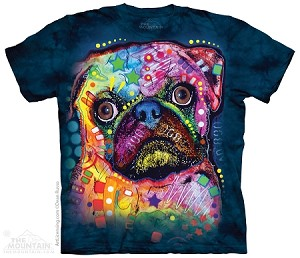 Russo Pug - Adult Tshirt - Dean Russo Collection