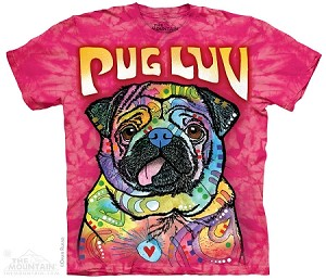Pug Luv - Adult Tshirt - Dean Russo Collection