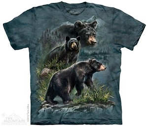Three Black Bears - North American Animal Collection - Adult Tshirt