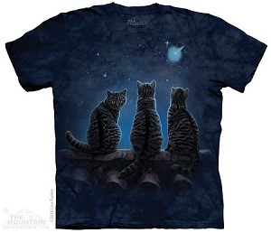 Wish Upon A Star - Adult Tshirt - Cat / Kitten Collection