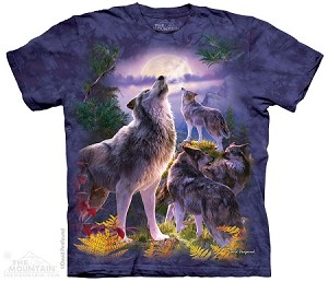 Wolfpack Moon - Adult Tshirt - Wolves Collection